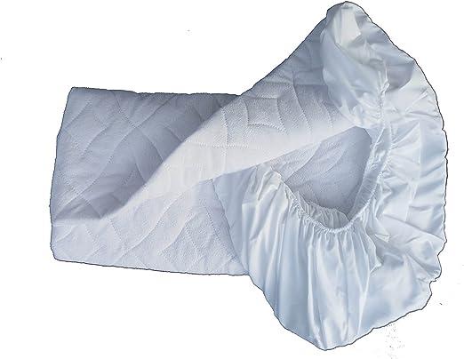 ìndalo Protector de colchón de Rizo, Blanco, Acolchado ...