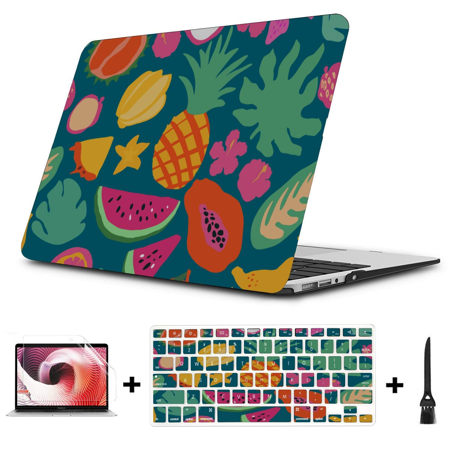 Laptop Protector Case Sweet Art Tropical Fruit Dragon Leaf Plastic Hard Shell Compatible Mac Air 11 Pro 13 15 Mac Book Pro Accessories Protection for MacBook 2016-2019 Version