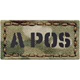 Micro Patch 1x1 IR APOS A Coyote Brown Tan Blood Type Tactical Morale