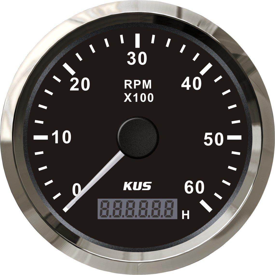 KUS DN85mm White Tachometer 0-6000rpm for Diesel Engine PN KY07101 White