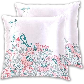 Amazon.com: Aluys boutique Soft Cotton Square Throw Pillow ...