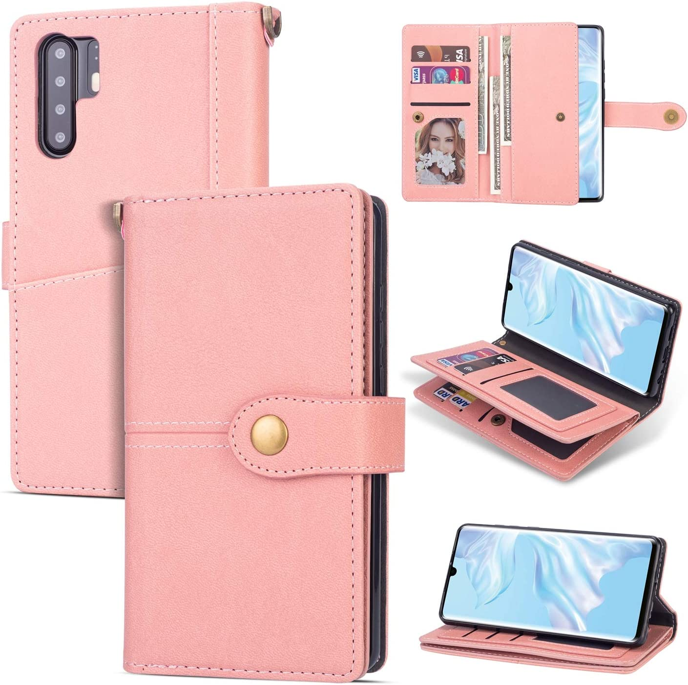 Cover for Huawei P30 PRO Leather Kickstand Card Holders Luxury Business Mobile Phone case with Free Waterproof-Bag Huawei P30 PRO Flip Case