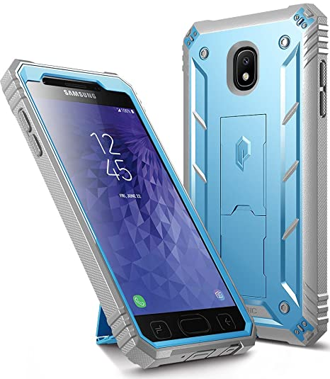 huge selection of 8a0bd 78dff Galaxy J3 2018 Kickstand Rugged Case, Poetic Revolution Full Body Case with  Built-in-Screen Protector for Samsung Galaxy J3 Orbit/J3 Star/J3 V 3rd ...