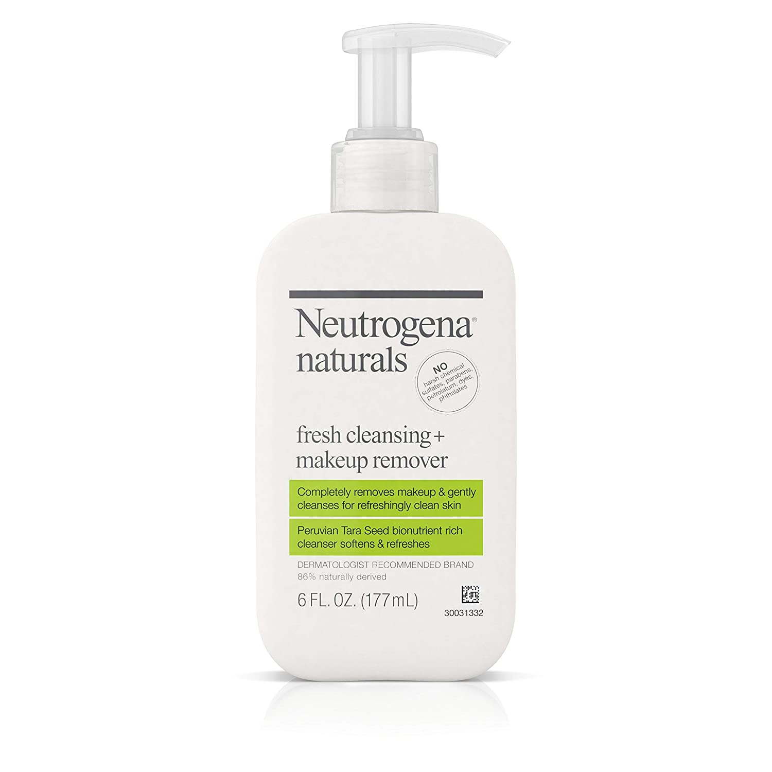 Amazon.com: Neutrogena Naturals Fresh Cleansing Daily Face Wash + Makeup Remover with Naturally-Derived Peruvian Tara Seed, Hypoallergenic, Non-Comedogenic ...