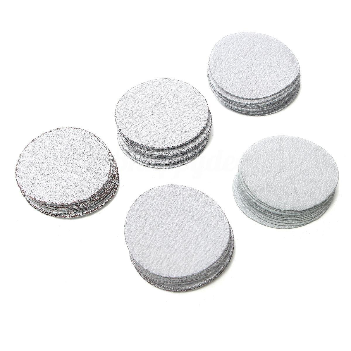 TOOGOO 2inch 50mm Sanding Discs Hook and Loop Pack of 50 mixed 80 120 180 240 400 Grits
