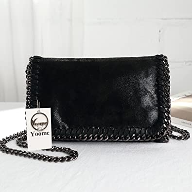 db040babd6c8 Yoome Woven Bags For Women Designer Chain Shoulder Bags Stylish Clutch Purse  for Ladies - Black