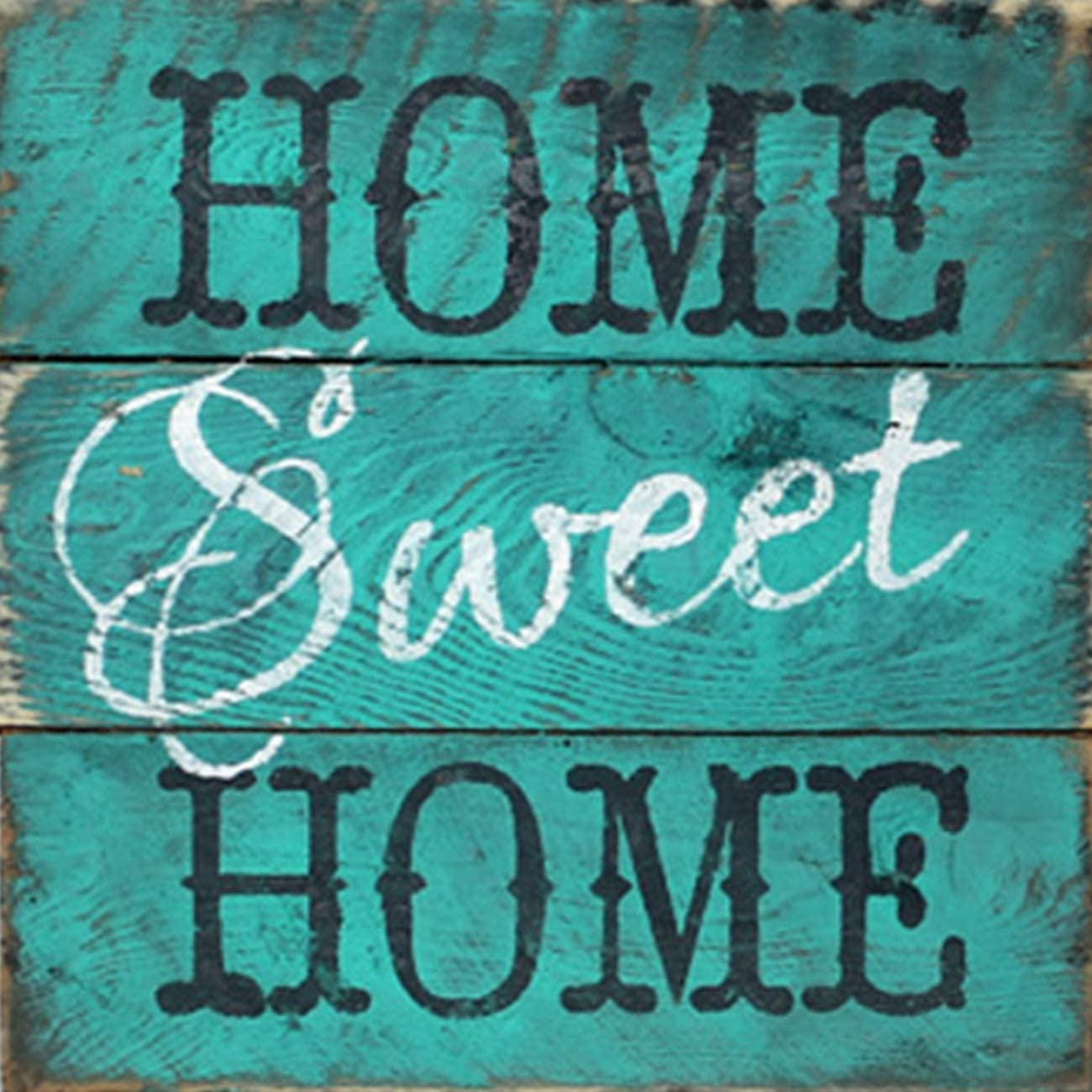 SKRYUIE 5D Full Drill Diamond Painting Blue Letter Sweet Home by Number Kits, Paint with Diamonds Embroidery Set DIY Craft Arts Decorations (14x14inch)