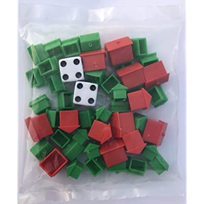 Monopoly Hotel and House Refill Replacement Pack with Dice: Toys & Games