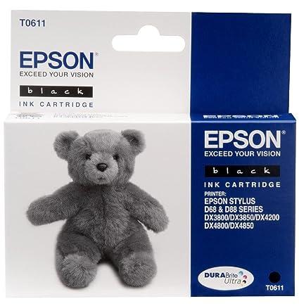 Epson T061 Black Ink Cartridge Negro cartucho de tinta - Cartucho ...