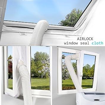 Sichler Haushaltsger/äte Klimaanlage Auslass Fensterabdichtung Klimaanlage Abluft Fensterabdichtung f/ür mobile Klimager/äte Hot Air Stop