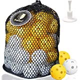 CAITON Plastic Golf Balls, Practice Golf Balls Perforated Training Golf Balls for Home Putting Practice Backyards Swing…