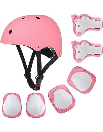 EarthSave - Juego de casco, rodilleras, muñequeras y coderas almohadilladas