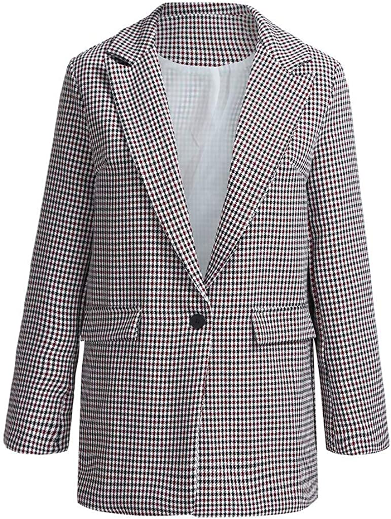 Lmx+3f Casual Women Long Sleeve Blazer Open Front Short Cardigan Suit Jacket Work Office Coat Loose Soft Comfy Suits