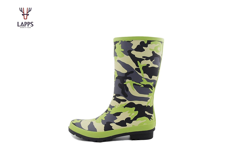 LAPPS Camouflage Damen/Mädchen Gummistiefel/Regenstiefel Aus Naturkautschuk - Designed in Finnland 4NR6c