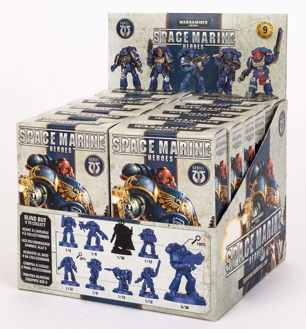 12 Games Workshop Warhammer 40.000 Miniature Models Space Marine Heroes Series 1 Display