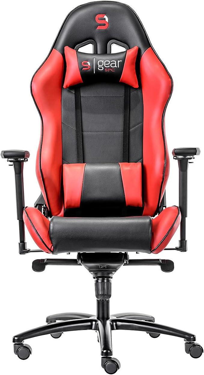 Spc Gear Sr500 Gaming Sitz Kunstleder Rot Schwarz 55 X 55 X 145 Cm Küche Haushalt