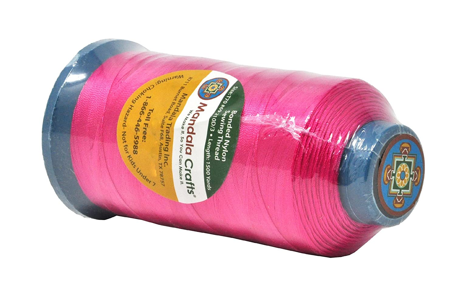 Jeans and Weaving Hair; Heavy-Duty; 1500 Yards Size 69 T70 Mandala Crafts Bonded Nylon Thread for Sewing Leather Apple Green Upholstery