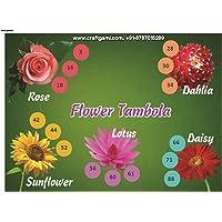 Craftgami - Flower Theme Tambola Tickets - Housie Tickets (24 Tickets)