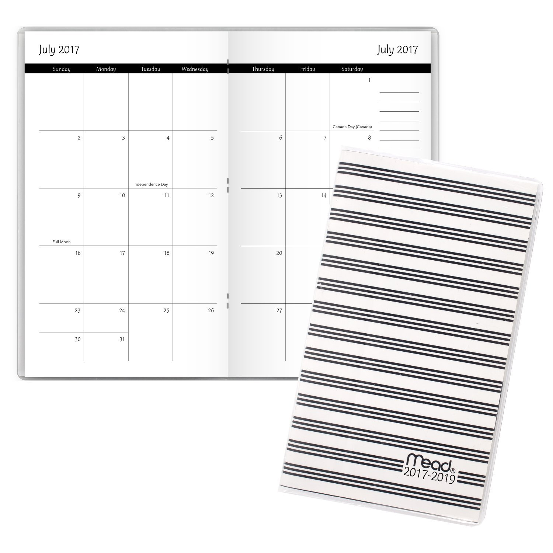 Amazon.com: Mead Academic planificador mensual, 2 year, de ...