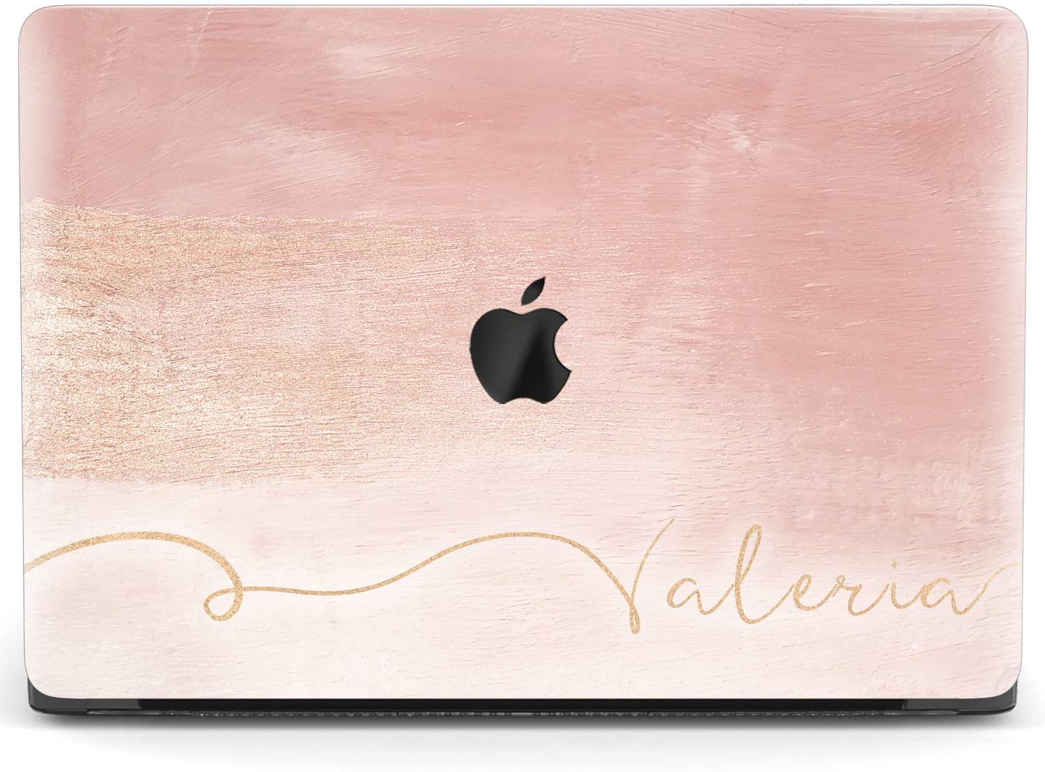 Mertak Hard Case for Apple MacBook Pro 16 Air 13 inch Mac 15 Retina 12 11 2020 2019 2018 2017 Texture Clear Pink Pastel Name Design Plastic Print Cover Basic Rose Gold Laptop Protective Painting