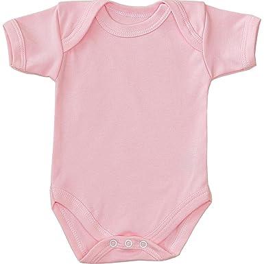 a98a4a51a 1 'One' Plain Coloured Baby Bodysuit/Vest Newborn -12 months: Amazon ...