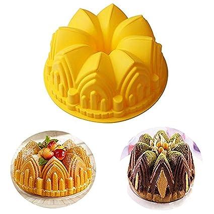 Joyeee 87 Castle Christmas Cake Mold Pan Silicone Baking For Birthday