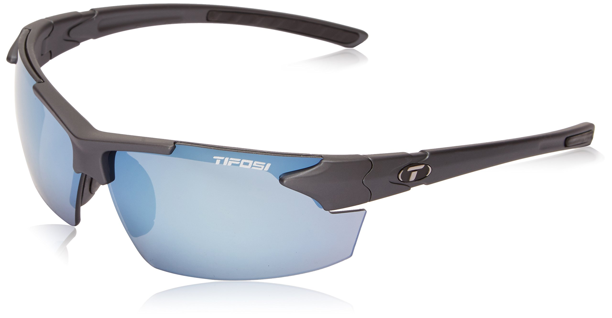 Tifosi Jet FC 1140400381 Wrap Sunglasses, Matte Gunmetal, 70 mm