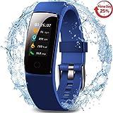 MorePro Wasserdichter Aktivitäts-Tracker, Farbdisplay Fitness Tracker mit Herzfrequenz-Blutdruckmessgerät, Schwimmen Smart Armband Pedometer Uhr mit Schlaf-Monitor für Frauen Männer Kinder