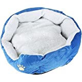 Gift New Coffee Warm Soft Fleece Pet Dog Cat Bed House with Mat Soft Pad Mat