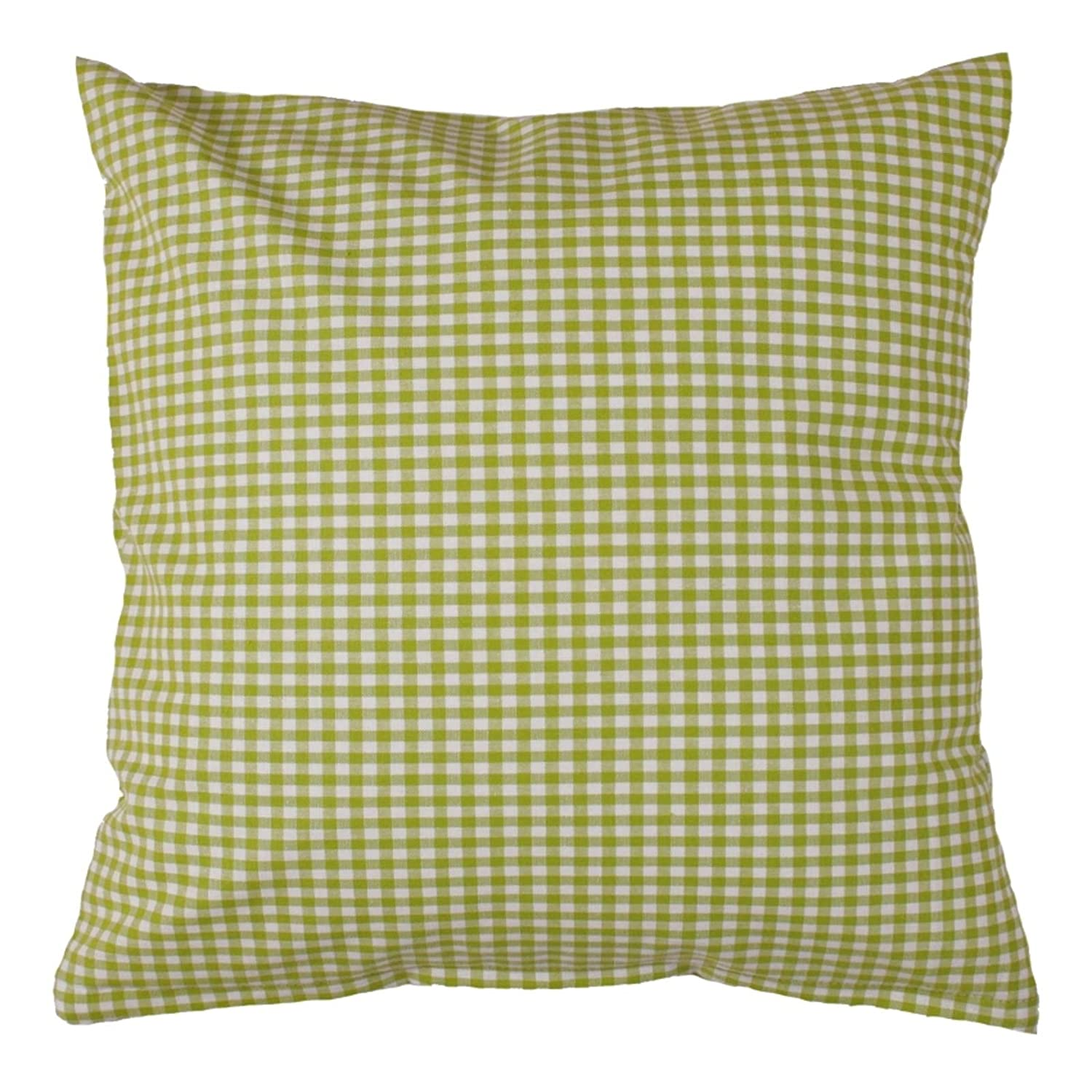 Cushion cover 40 x 40 cm vichy karo 5x5 mm cotton plaid gingham zip cotton brown 40 cm x 40 cm amazon co uk kitchen home
