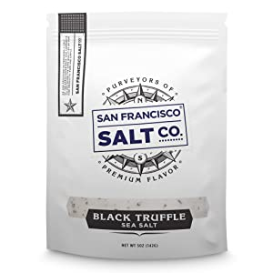 Italian Black Truffle Salt 5 oz. Resealable Pouch - San Francisco Salt Company