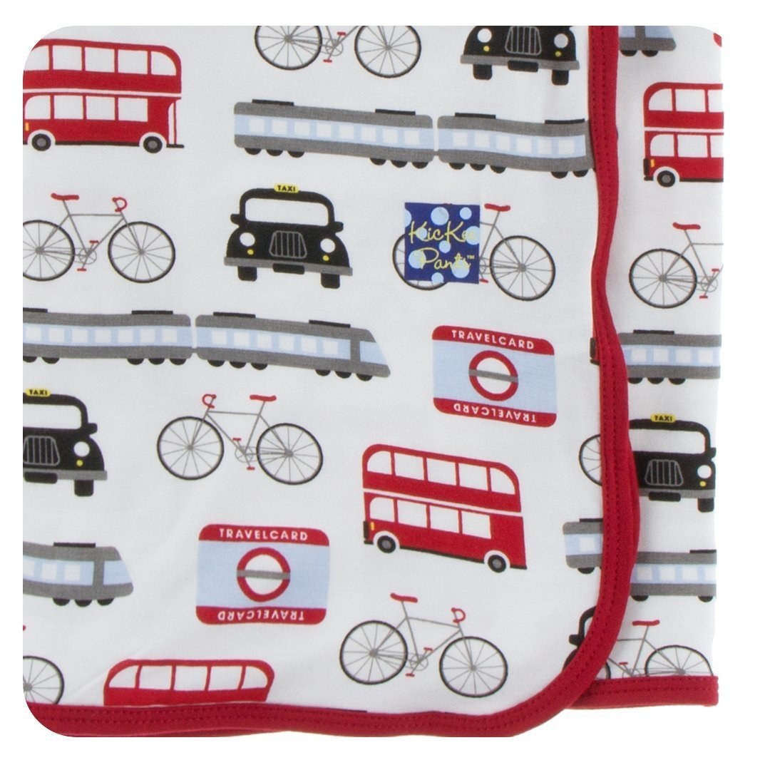 Kickee Pants Print Swaddling Blanket - London Transport