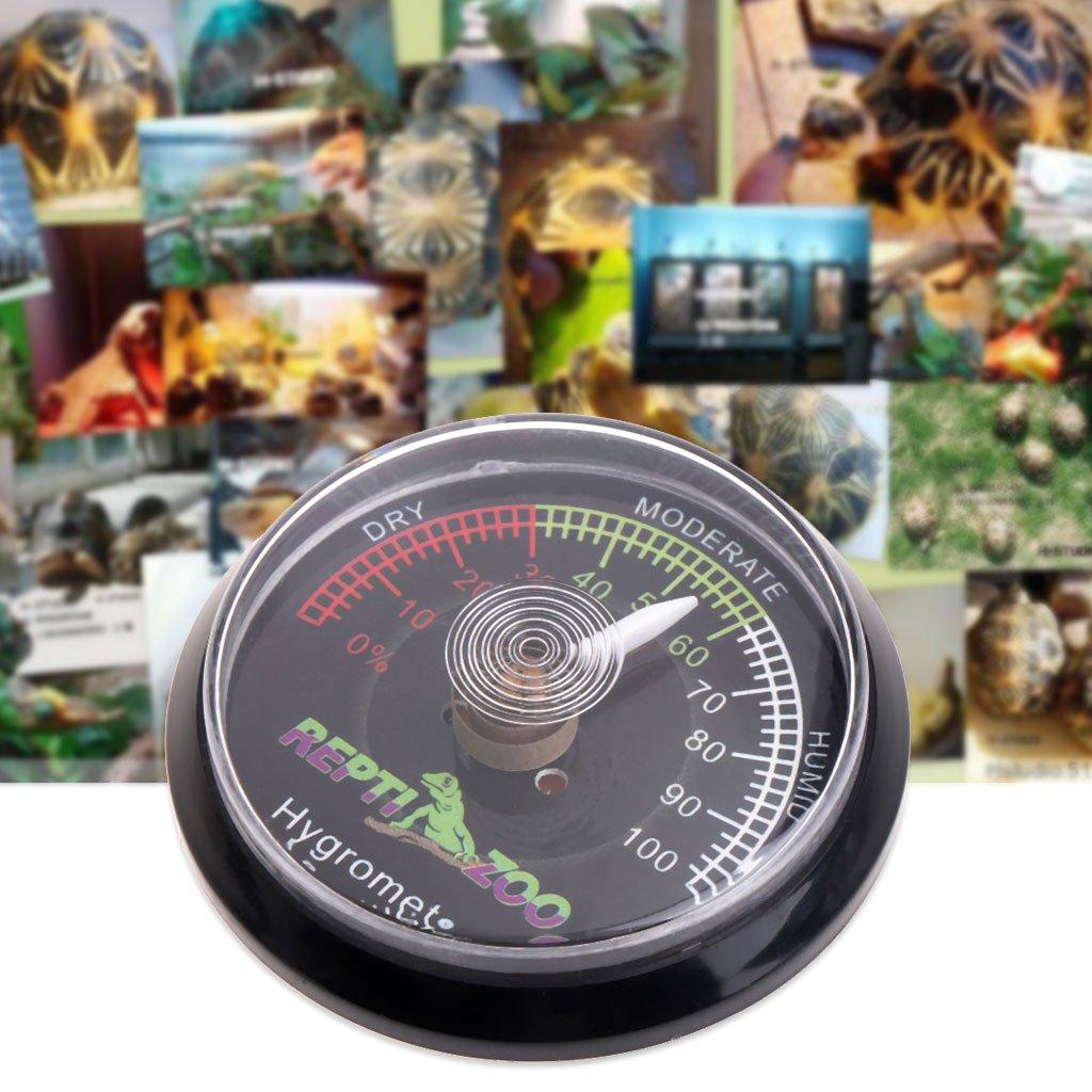A0127 tartaruga rettile terrario Vivarium igrometro misuratore di umidit/à dellaria scatola strappo