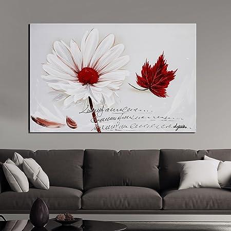 ARTLAND Hand Painted Framed Wall Art \'The Wind Fluttering White ...