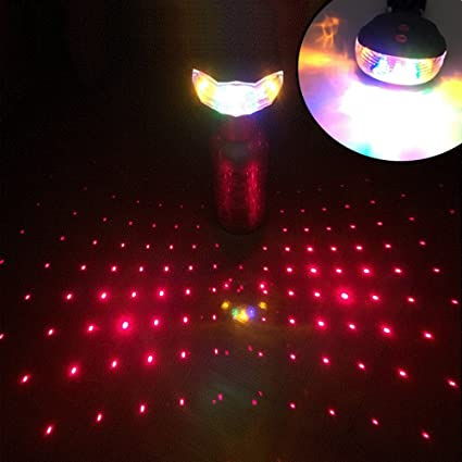 New 2 Laser 5 LED Rear Bike Bicycle Tail Light Beam Safety Warning Red Lamp BG