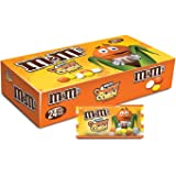 M&M'S White Chocolate Candy Corn Halloween Candy 1.5-Ounce Singles Pouches 24-Count Box