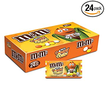 mms white chocolate candy corn halloween candy 15 ounce singles pouches 24 count box