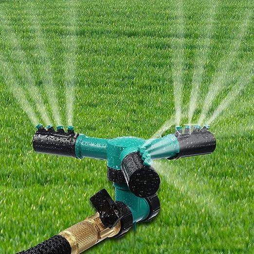 Sivane Rociador de Enchufe de Tierra Giratorio automático para jardín doméstico Conjuntos de riego: Amazon.es: Jardín