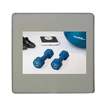 Compra Fisioterapia, entrenamiento con pesas, mancuernas de tablero cuadrado imán para nevera en Amazon.es