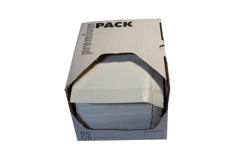 Premiumstick 500 Buste autoadesive porta documenti Neutre formato C5 162x228 in confezione dispenser Paclist