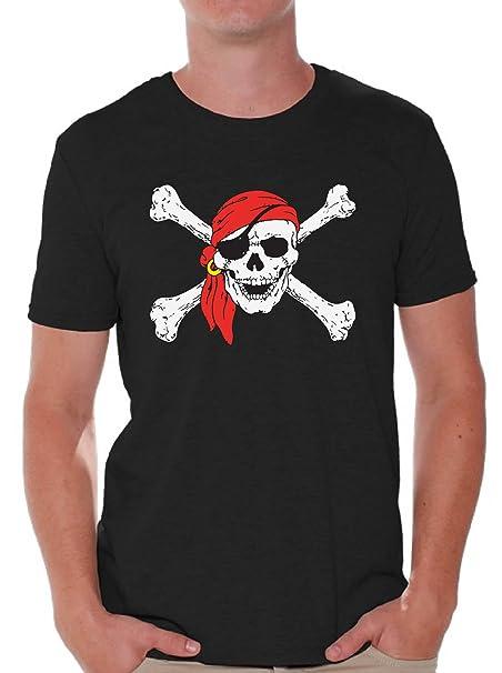 66036dcc Awkward Styles Men's Jolly Roger Skull & Crossbones T Shirts Tops Pirate  Flag T Shirts Tops