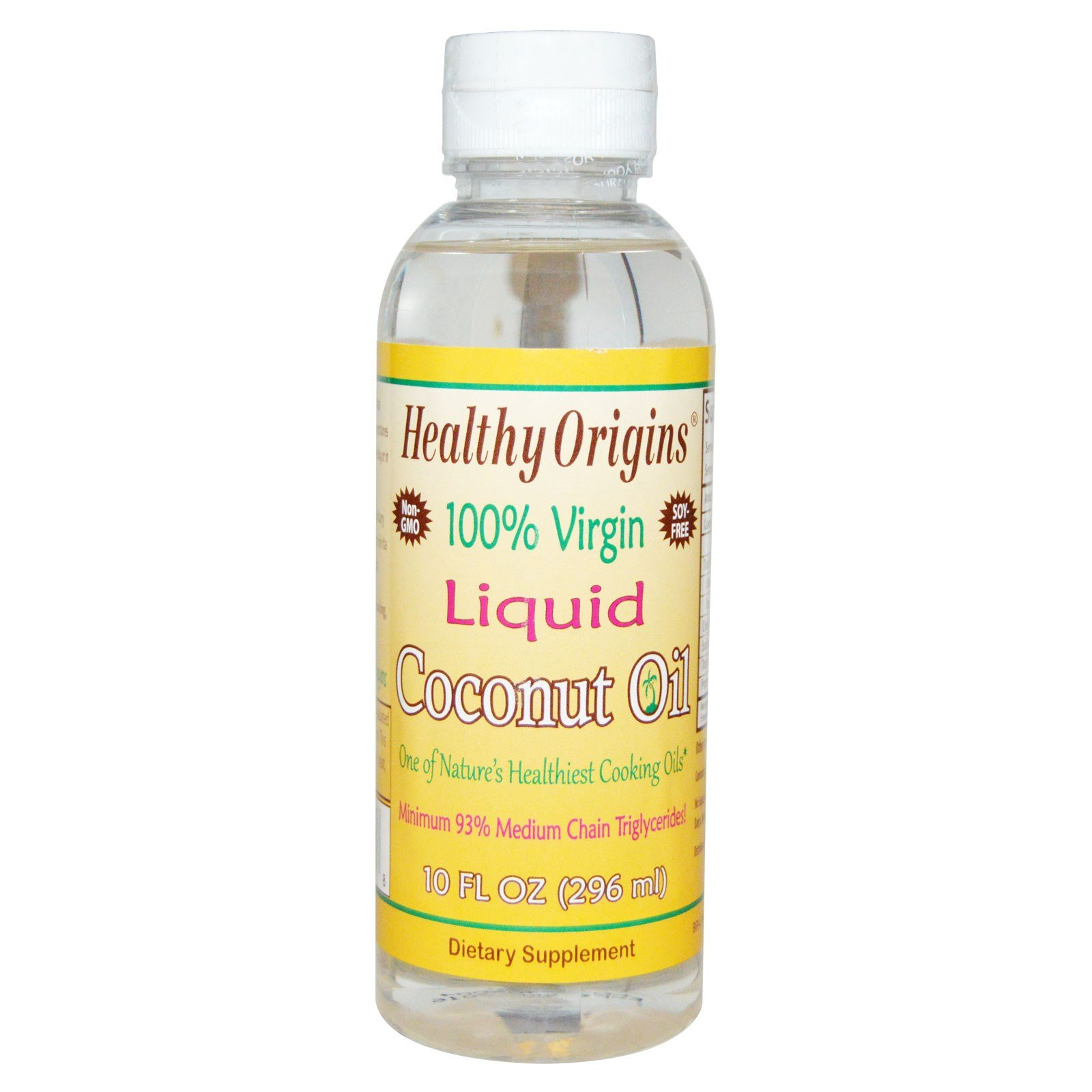 Healthy Origins, 100% Virgin Liquid Coconut Oil, 10 fl oz (296 ml) Healthy Origins, 100% Virgin Liquid Coconut Oil, 10 fl oz (296 ml) - 2pcs by Healthy Origins
