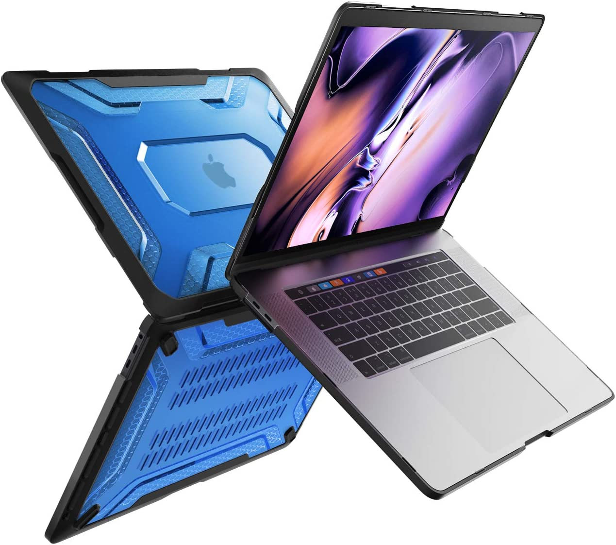 SUPCASE [Unicorn Beetle Series] Case Designed for MacBook Pro 16 inch A2141 (2019 Release), Slim Rubberized TPU Bumper Cover with Touch Bar and Touch ID (Blue)