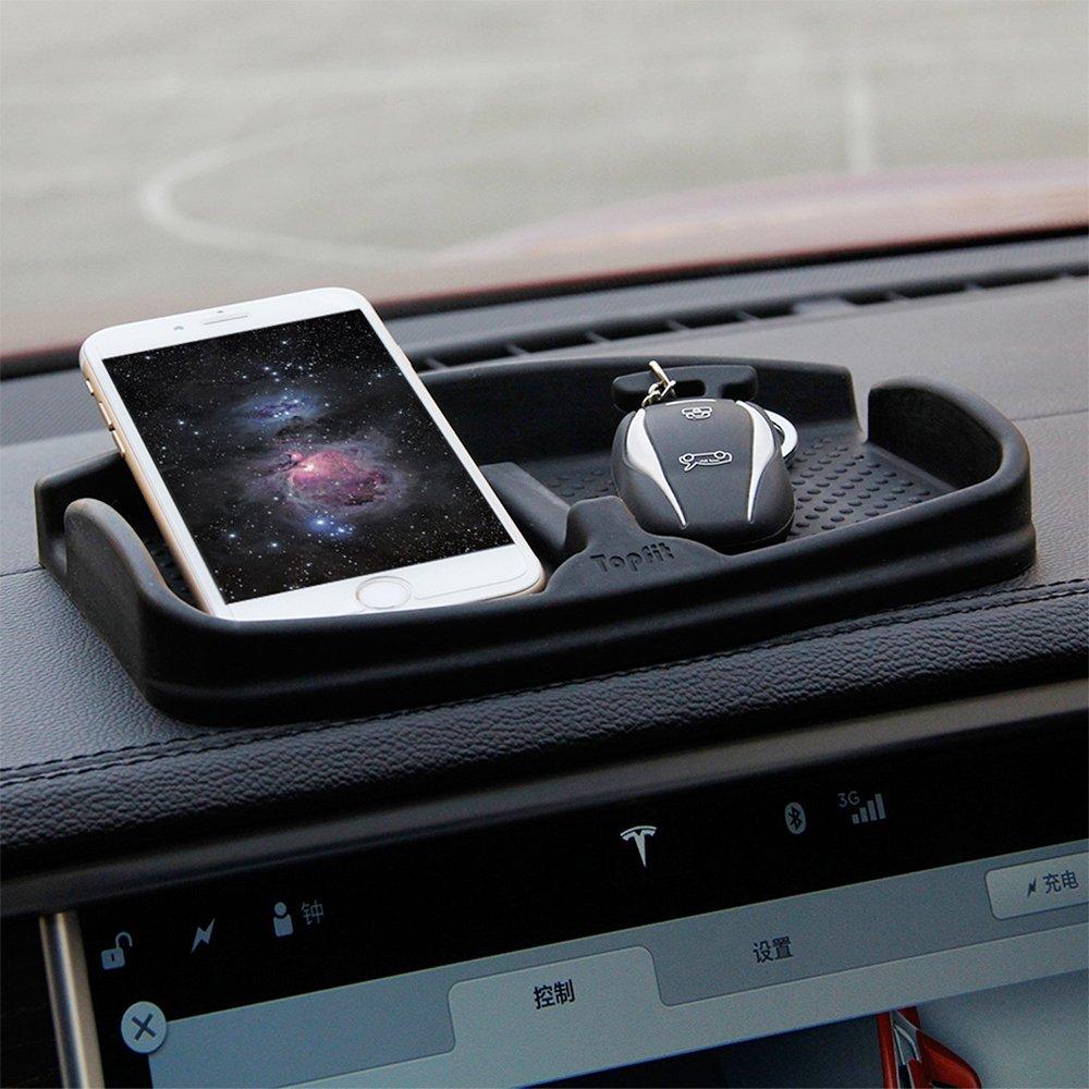 antiscivolo Pad cruscotto auto universale supporto del telefono supporto per GPS da sole portachiavi monete Topfit cruscotto tappetino antiscivolo in silicone