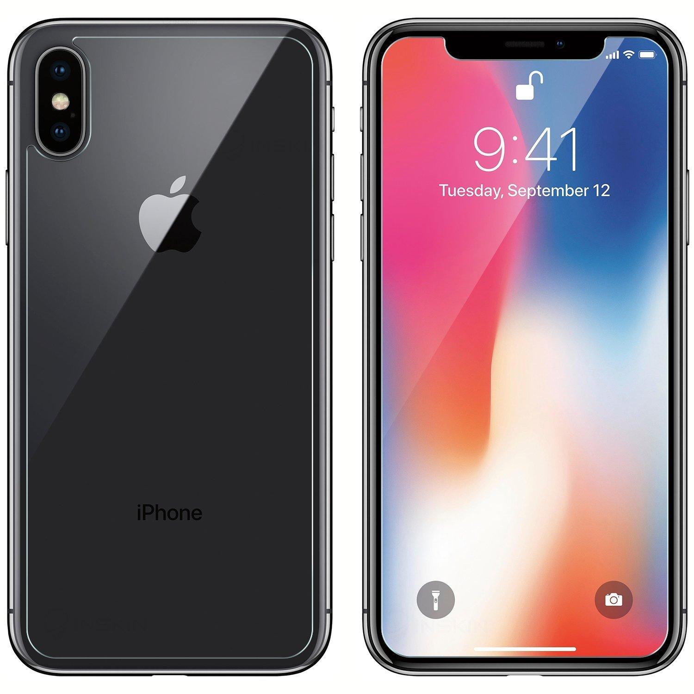 vidrio templado Protector de pantalla y parte trasera para iPhone X//iPhone 10/ Inskin iPhone X parte delantera y trasera Protector de pantalla 9H Dureza. 5.8/pulgadas Recubrimiento oleof/óbico 2017