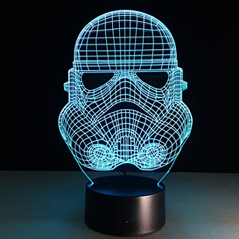 3D Star Wars Night Light USB LED7 Color Touchable Switch Lámpara ...