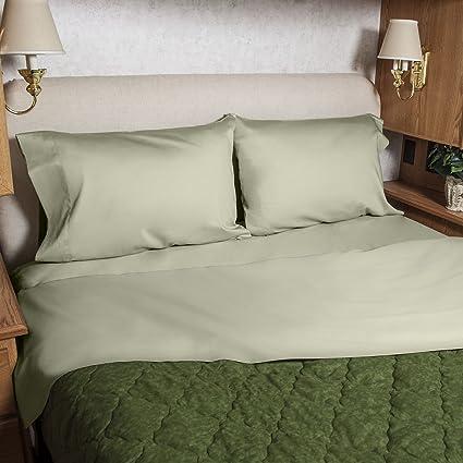 3/4 Full Bunk 48x75 Camper RV Sheet Set 100% Cotton Color: Sage
