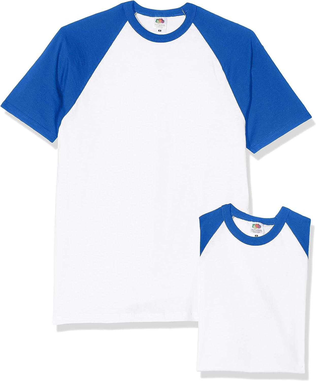 Pacco da 3 Fruit of the Loom Baseball Classic Long Sleeve T-Shirt Uomo
