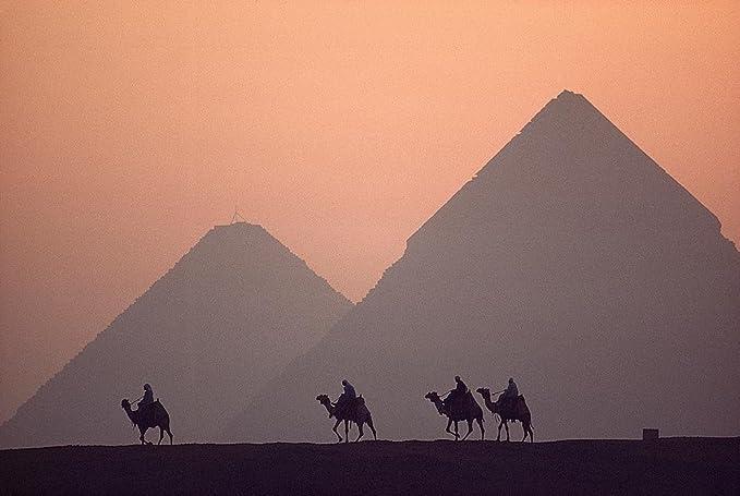 Egypt Egyptian Camel Pyramids 3D Magic Window Wall Art Self Adhesive Poster V3*
