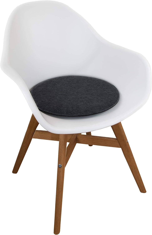 Stuhlkissen Design Home schoko Modell Graz mit Bindeb/ändern, Breite 37 cm Sitztiefe 37 cm St/ärke 3 cm
